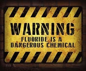 fluoride dangerous chemical sign